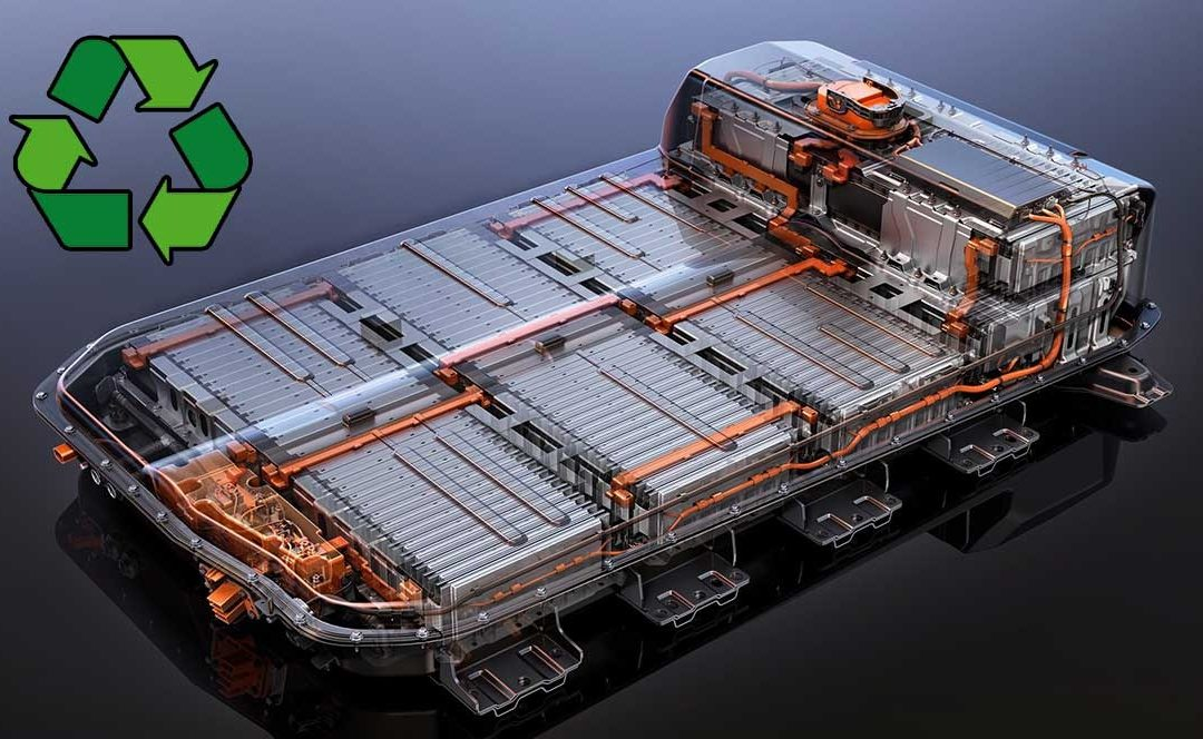 Planta automatizada para reciclar baterías usadas de coches eléctricos